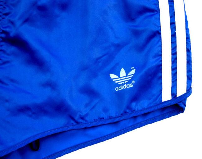 label 90s Adidas Satin Blue Sport Shorts