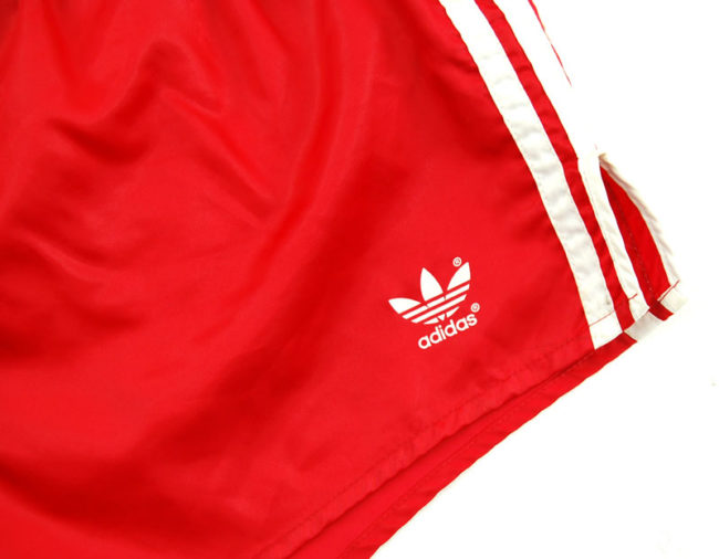 label 90s Adidas Satin Red Sport Shorts