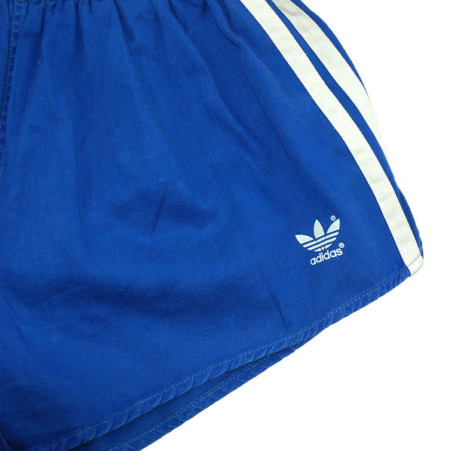 logo 90s Adidas Cotton Sport Shorts