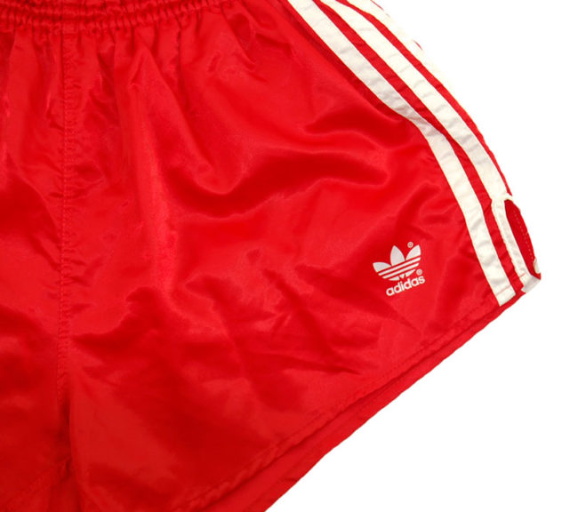 logo 90s Adidas Red Sport Shorts