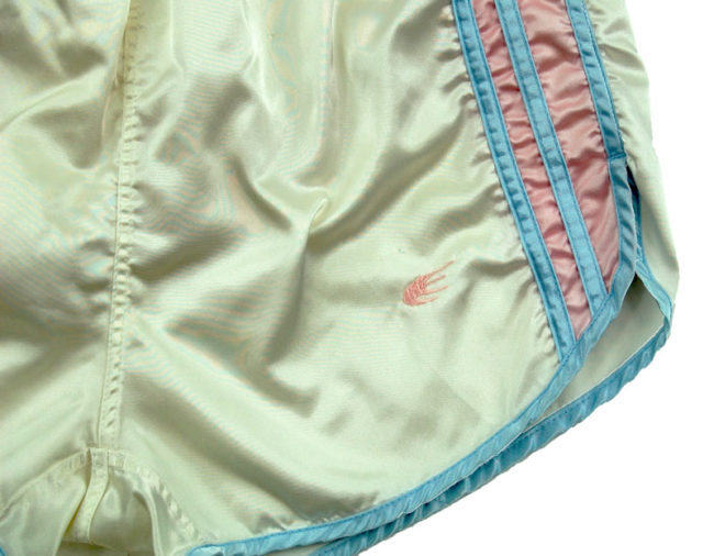 side of 90s Pastel Coloured Sport Shorts