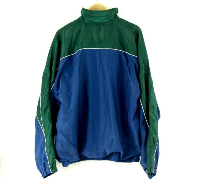 2000s Blue Shell Suit back of jacket