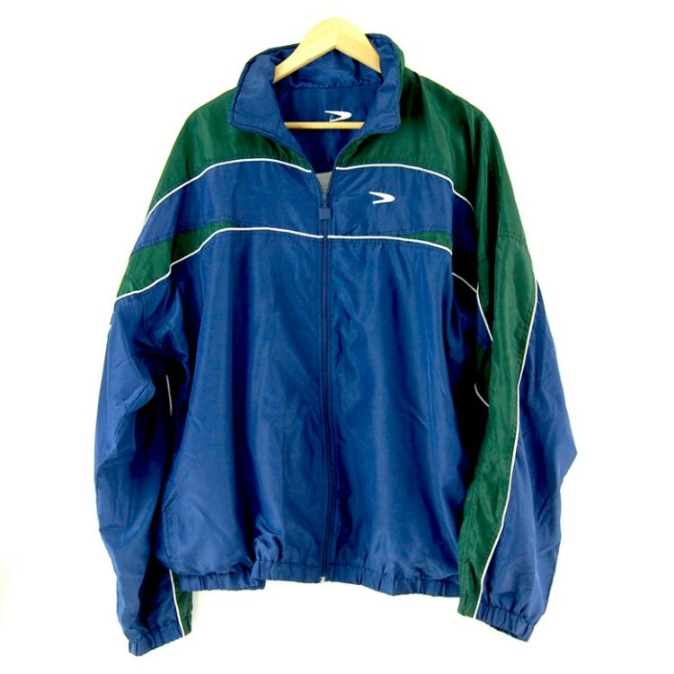 2000s Blue Shell Suit front of jacket