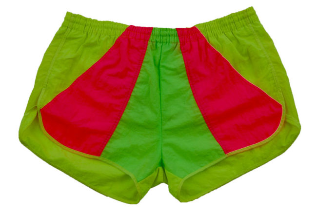 90s fluorescent Sport Shorts