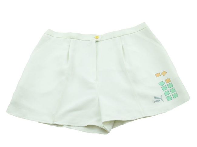 90s Puma White Tennis Shorts