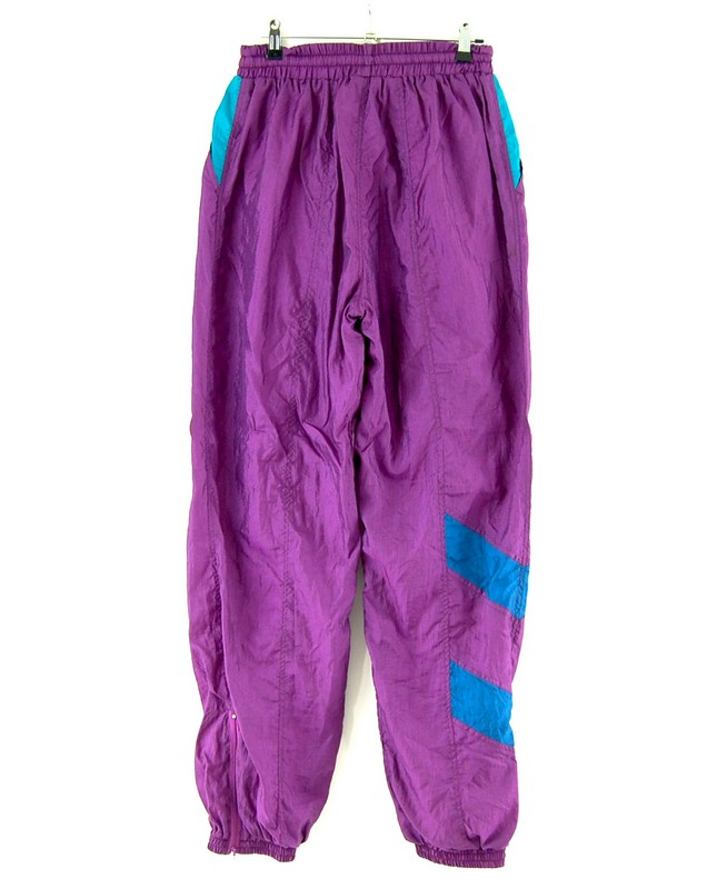 90s Purple And Turquoise Shell Suit trousers