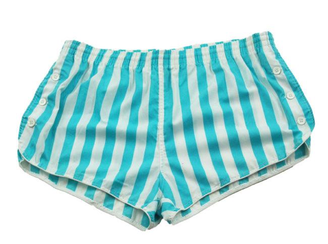 90s Striped Blue Tennis Shorts