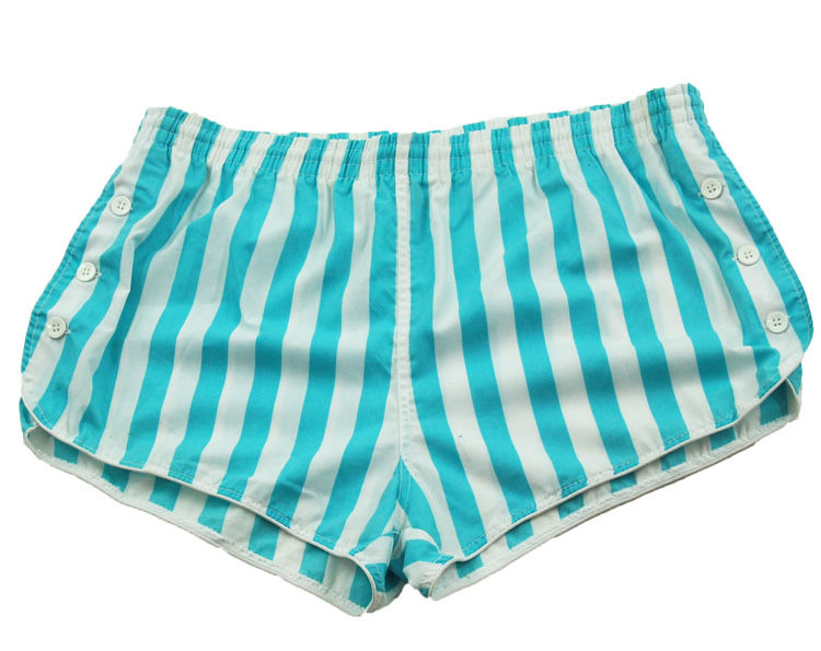 90s Striped Blue Tennis Shorts