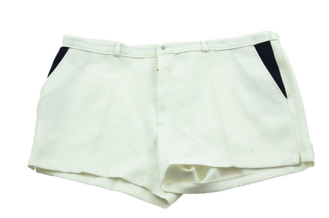 90s White Tennis Shorts