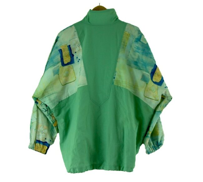 Back of 90s Authentic Klein Leaf Green Shell Suit