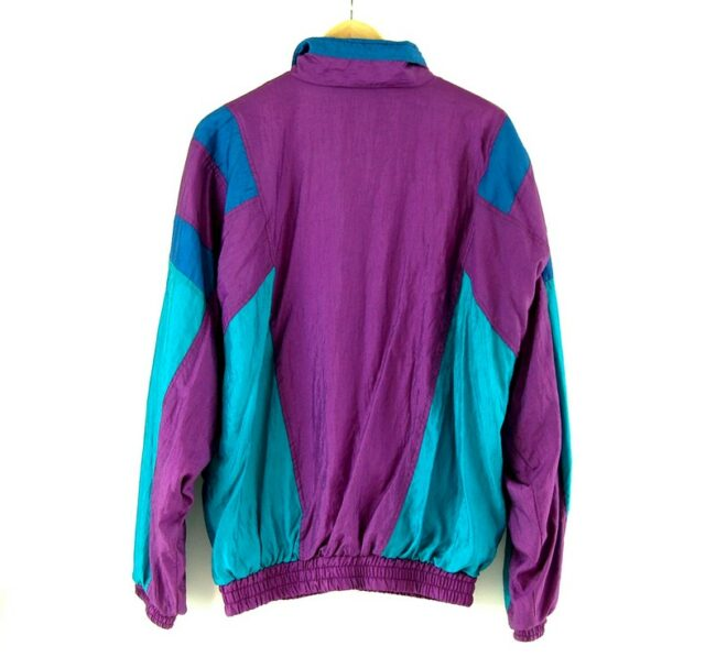Back of 90s Purple And Turquoise Shell Suit
