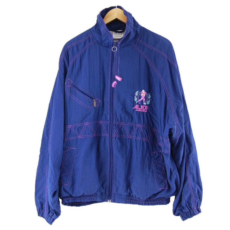 Dark Blue Print Shell Suit