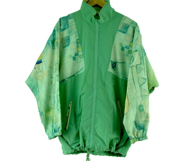 Front of 90s Authentic Klein Leaf Green Shell Suit