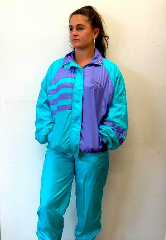 Front profile view of 90s Sports Shell Suit