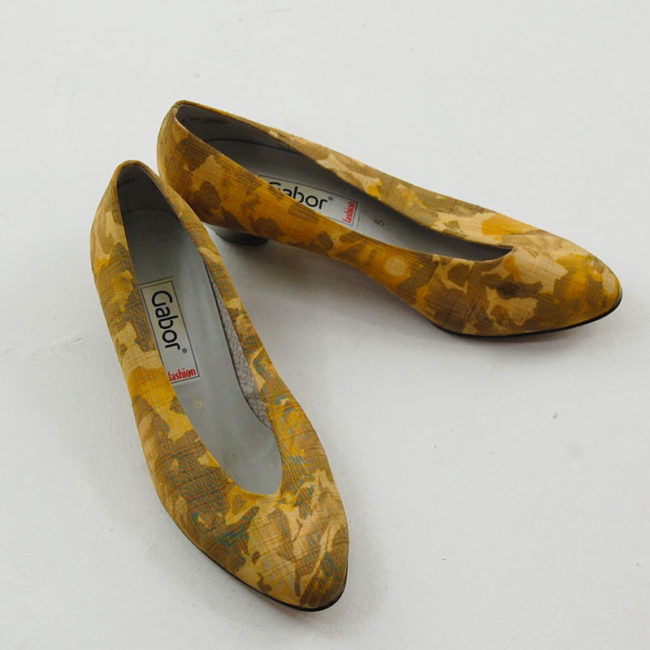 Front view of 80s Watered Silk Pumps