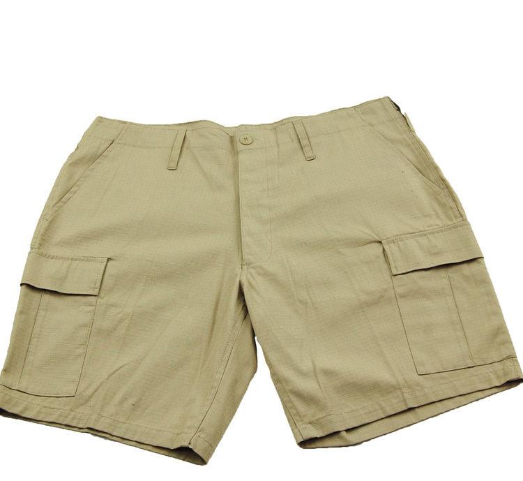 Mens Cargo Khaki Shorts