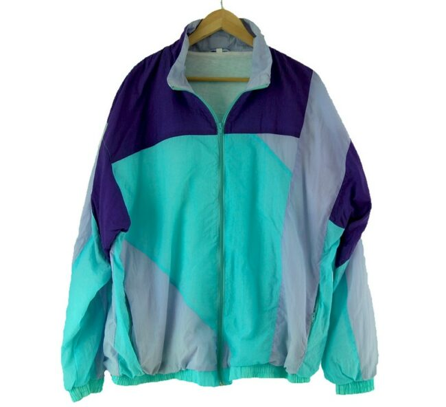 Purple And Light Blue Shell Suit front of jacket