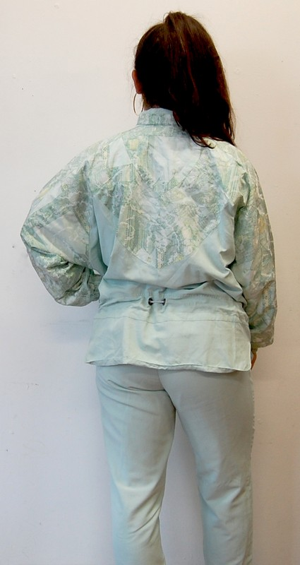 View of back of authentic Klein Shell Suit