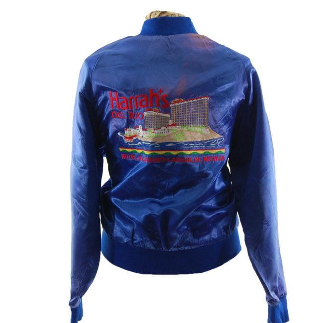back Harrahs Del Rio Baseball Jacket