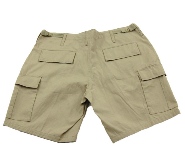 back of 00s Khaki Cargo Shorts