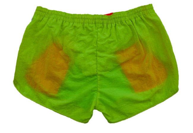 back of 90s fluorescent Sport Shorts