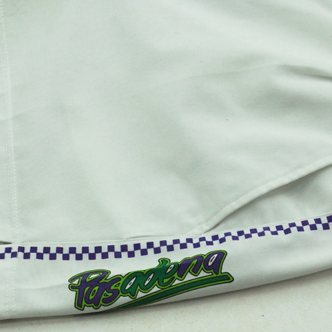 close up of checkered Pasadena Tennis Shorts