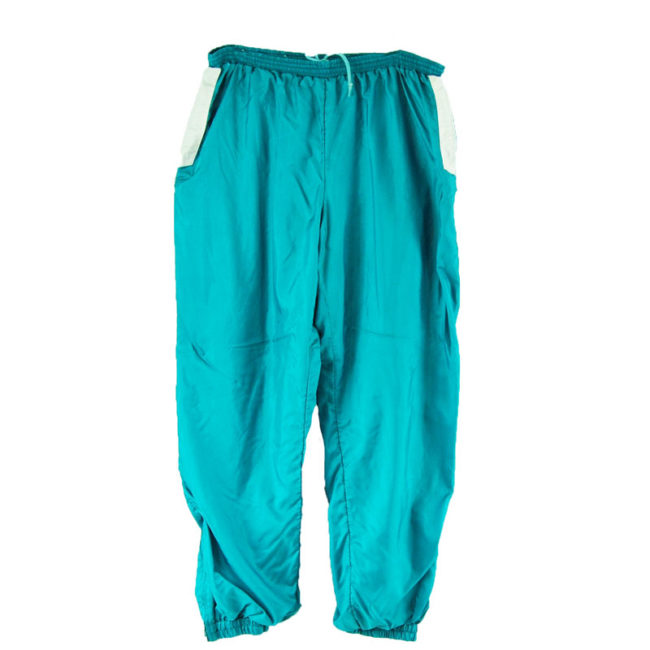 trousers 90s Turquoise Shell Suit