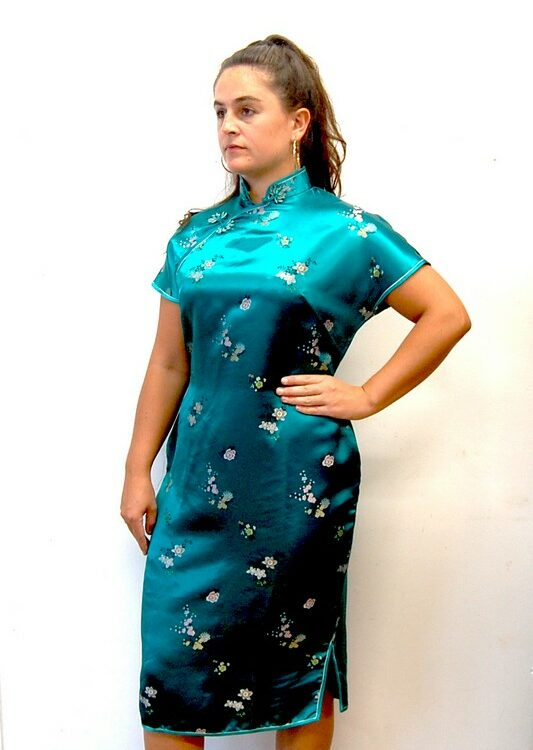 60s Green Vintage Chinese Dress