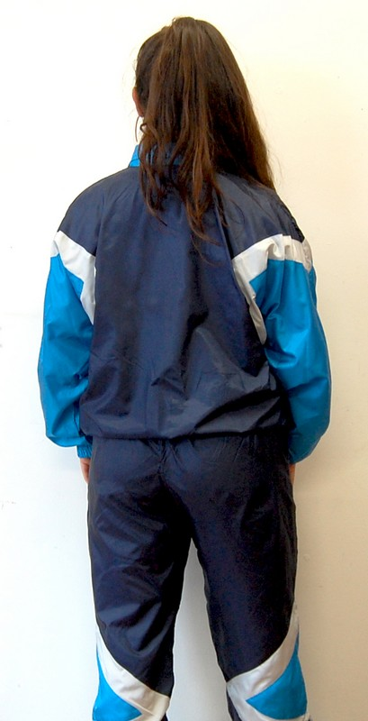 Back of Etirel Blue Shell Suit