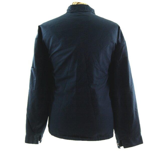 Back of Navy Work Jacket