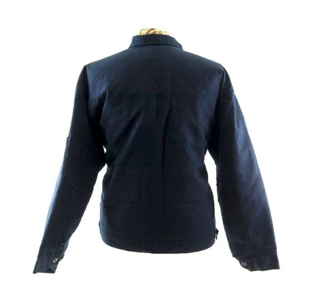 Back of Vintage Blue Work Jacket