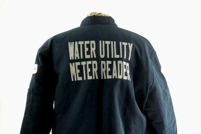 Back of vintage work jacket