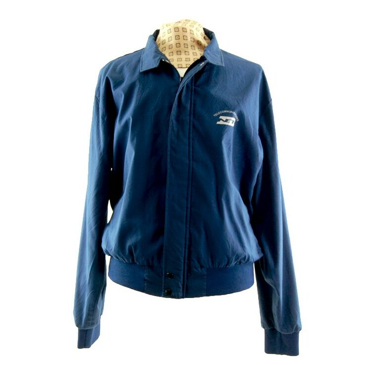 Blue Telecommunications Harrington Work Jacket