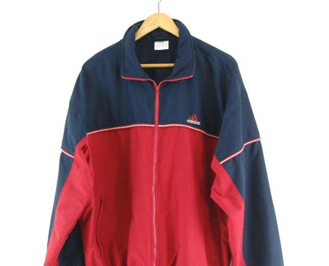 Close up of Adidas track jacket