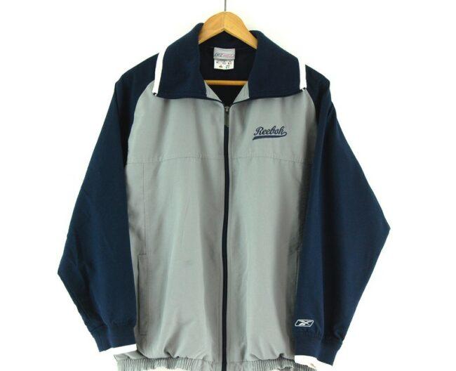 Reebok track jacket close up