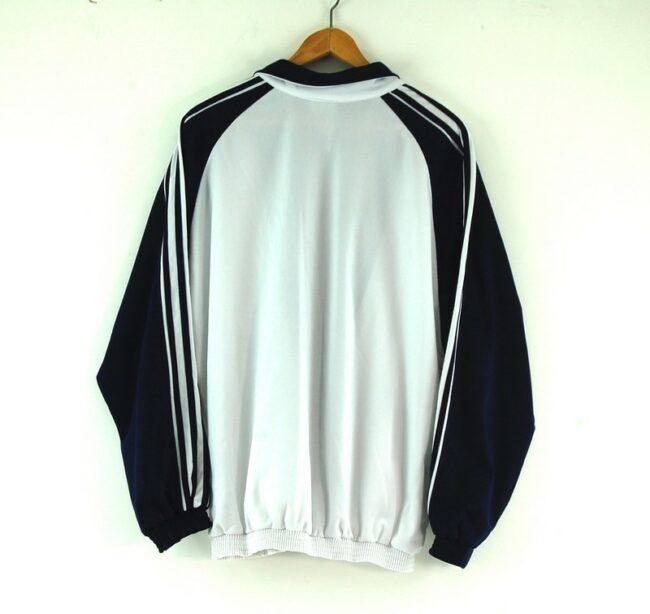 Adidas white track jacket back