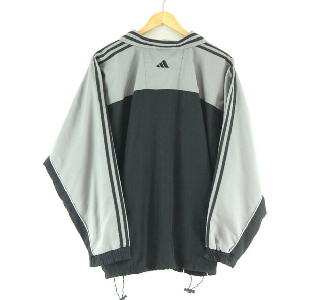 Adidas Track jacket with front stripes back