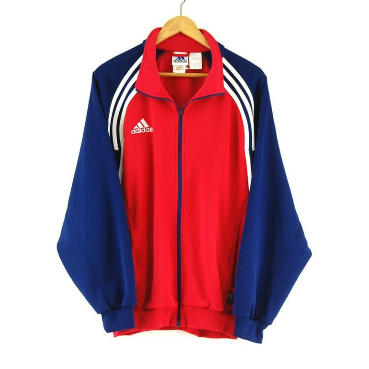 Adidas Red and Blue Track Jacket