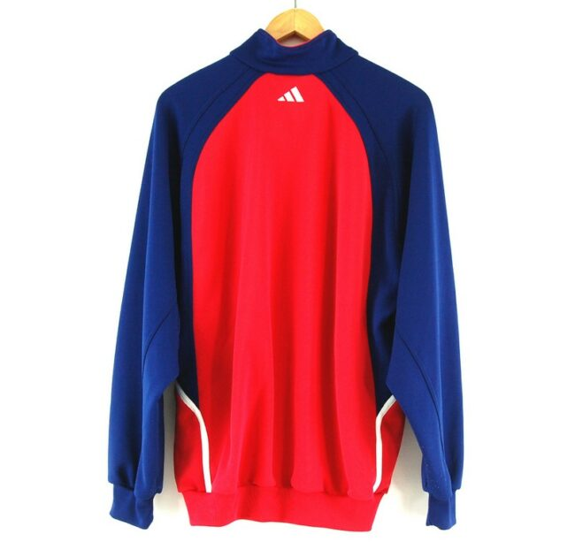 Adidas Red and Blue Track Jacket back