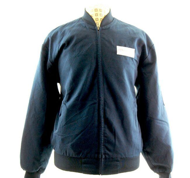 Front close up of American Pro Navy Blue Work Jacket