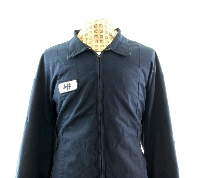 Front close up of Navy Work Jacket