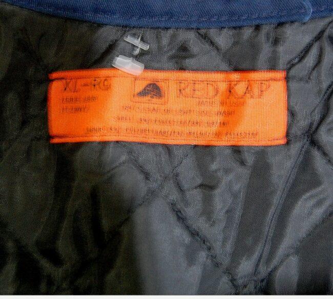 Label of Vintage Blue Work Jacket