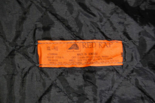 Label of work jacket