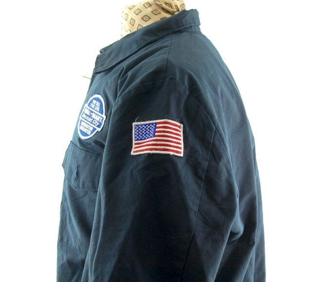 Left side_badges of Mens Vintage Work Jacket