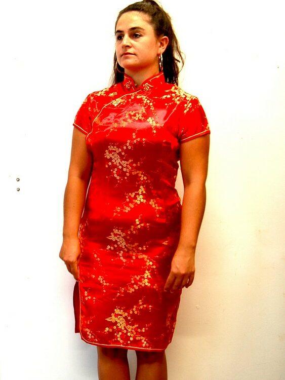 Red Vintage Cheongsam Dress