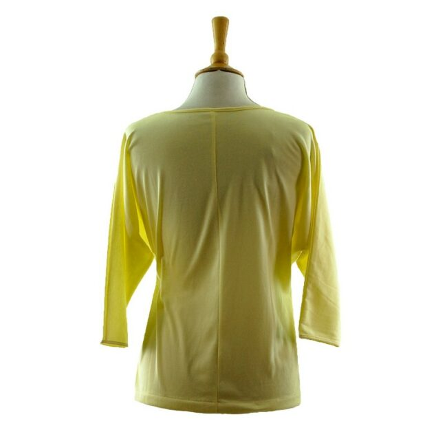 Reverse side of Womens Yellow Applique 80s T Shirt