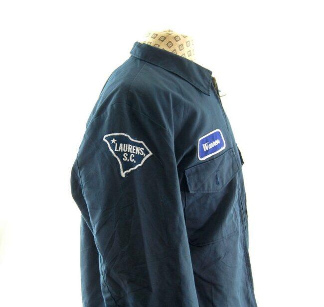 Right side_badges of Mens Vintage Work Jacket