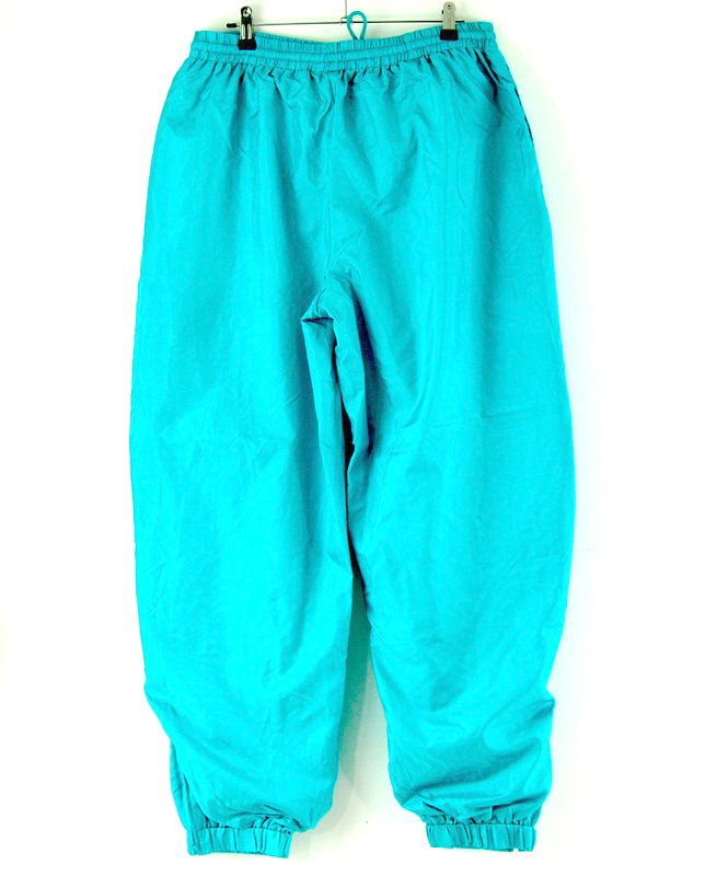 Turquoise Shell Suit trousers