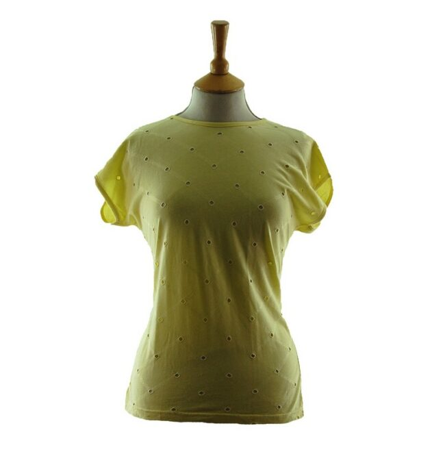 Womans Pale Yellow 80s t shirt