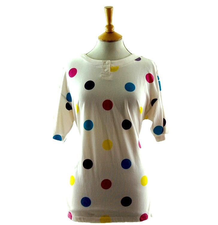 Womens 80s Polka Dot t shirt